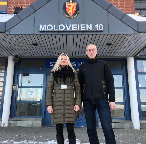 Jakter nytt lokale: Fylkesmannen i Nordland er på utkikk etter nytt lokale når leiekontrakten går ut i 2020, men de holder fortsatt mulighetene åpne til å bli værende i Moloveien. Det opplyser assisterende Fylkesmann Monica Iveland og intern prosessleder Alf Thynes.