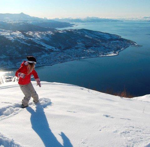 På fjerdeplass: Narvik er svenske togreisende skituristers fjerdevalg. Det viser SJs billettstatistikk. A rkivfoto: Kristoffer Klem Bergersen