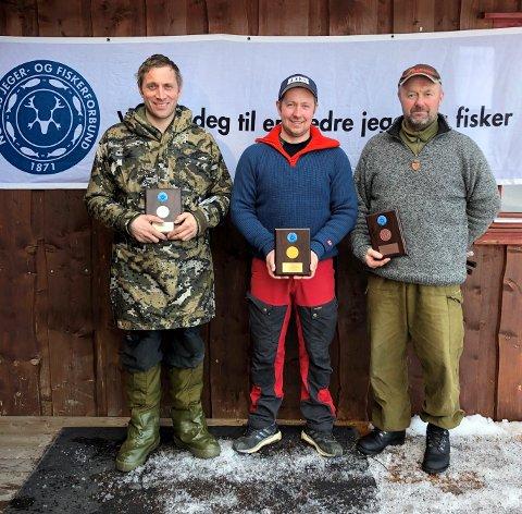 Tom Rune Tomter fra Gjøvik JSK vant Fylkesmesterskapet i Jaktfelt, foran Hans Mathias Ulberg fra Sør-Fron JFF og Thore Larsen, Gausdal JFF.