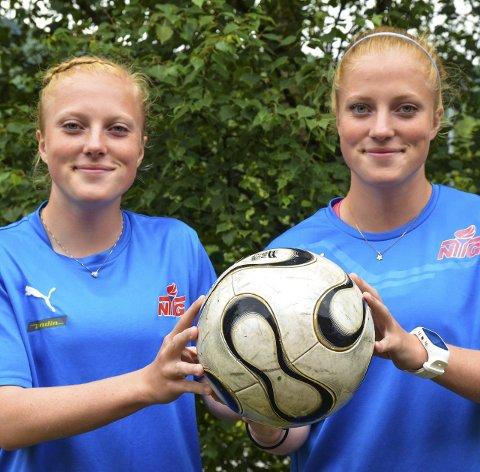 HARDE KRAV: Guro (til venstre) og Stina Næss Berge må gjennomgå fysiske tester med hardere krav enn en FIFA-dommer i fotball.