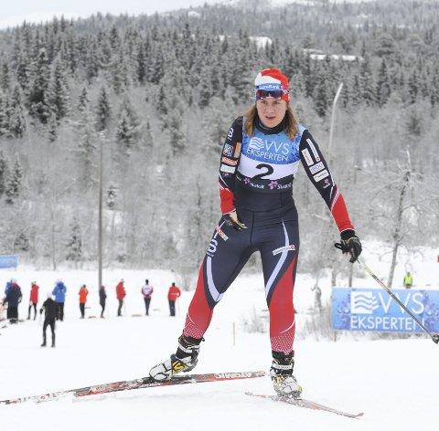 GJENNOMKJØRING: Anne Karen Olsen sesongåpnet på Beitostølen. VM i Lahti er sesongens store mål for kvinnen som går i klassen for funksjonshemmede.