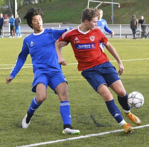 TO MÅL: Vegard Tessem Jorstad scoret de to siste målene for Brandbu i kampen mot Solvoll/Trevann. Bildet er fra hjemmekampen mot Harestua tidligere i sommer.