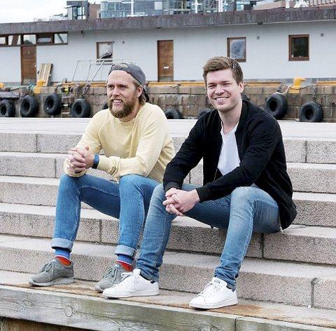 Vil dele på båtplassene: – Tomme båtplasser vil vi at skal være til glede for andre båtfolk, sier gründerne Gard Havelin og Kent Robin Haugen.Pressefoto
