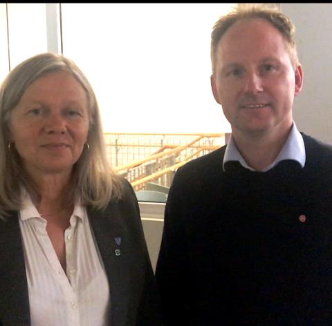 GA OPP ORDFØRERKRAVET: Remi Solberg fortsetter som ordfører i Vestvågøy, og Anne Sand som varaordfører. Valgvinner Sp ga seg på kravet om ordfører mot å få komitelederne og posisjonsleder for begge partier i kommunestyret.