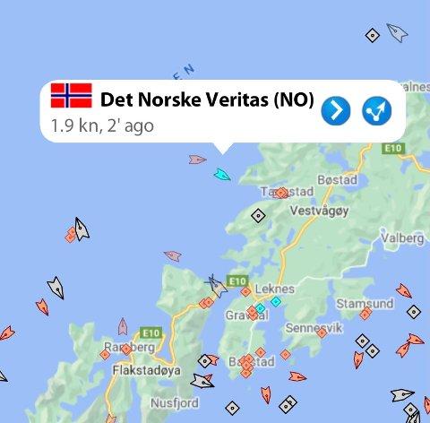 "YTTERSIA: Her er ""Det Norske Veritas"" kommet til båten."