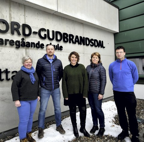 Ønsker flere søkere til bilfag: Fra venstre: Ingvill Høgvoll, Odd Erik Bergheim, Vibeke Bruun de Neergaard, Ingrid Vorkinn og Tore Olav Holen.