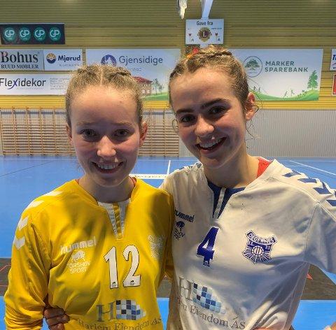 SUVERENE JENTER: Sofie Elisabeth Magnussen (16), Sigrid Pauline Hagen (16) og resten av DILs unge lag storspilte i onsdagens seriekamp mot Driv.