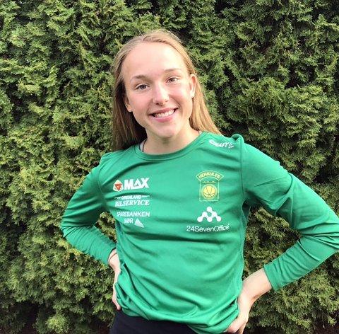 NY REKORD IGJEN: Eilén Brenne fra Herkules løp en sterk 800 m under European Youth Olympics Festival i Baku. Det resulterte i ny personlig rekord og ny kretsrekord for junior.