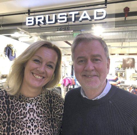 Feirer: Ellen og Per Arne Brustad Svensson feirer i helga at butikken er 90 år.