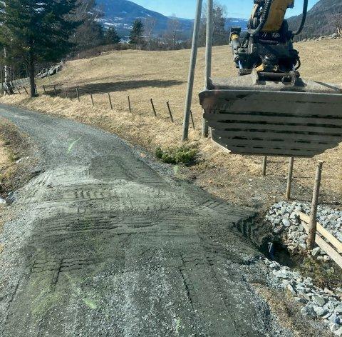 ETTER: Slik så gangvegen ut etter at kommunen hadde vært på tur.