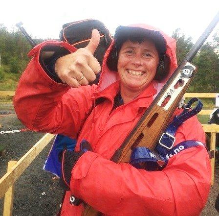 Heidi Pedersen, som er nybegynner voksen, takla regnværet godt på sitt første LS