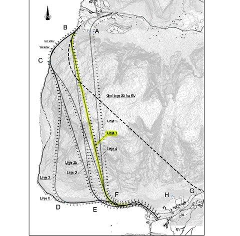 Norconsult tilrår det som er merka som linje 1 som ny tunnel mellom Nordrepollen og Austrepollen. (Illustrasjonsfoto).
