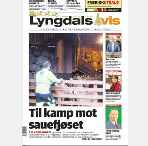 OMREGULERING: Sauebonde Christian Skåte er i gang med omreguleringen fylkesmannen krever.