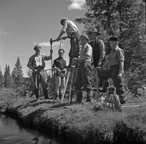 STORT PROSJEKT: Stikkingen av Trysilbanen var et stort og omfattende prosjekt i 1949.