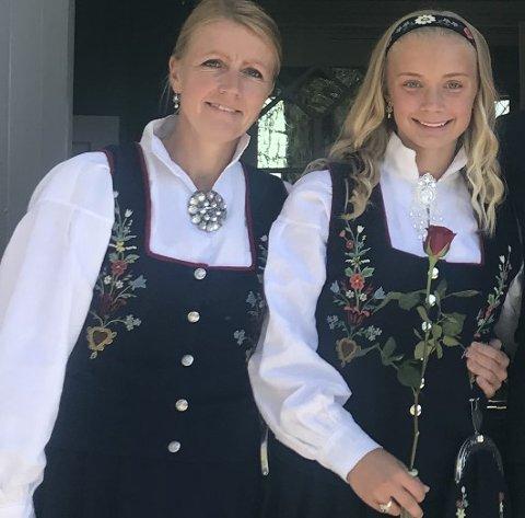 Heltinner på kanten: Om Thea Kyvåg ikke valgte samme idrett som mor Sarah Hausmann, ble de begge i alle fall kantspillere.