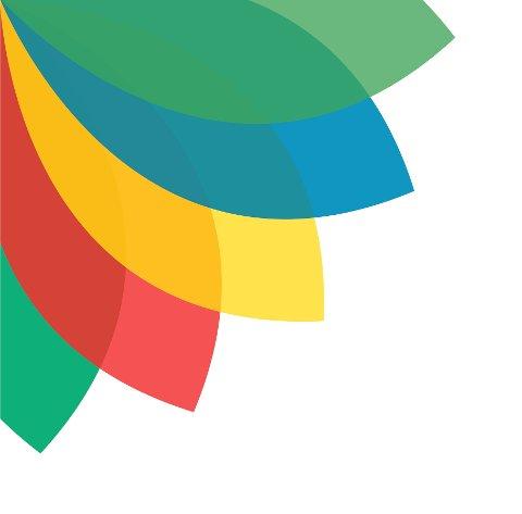 Ny profil: Den grafiske profilen bruker fargene til dagens fem kommuner. De er lagt i en vifteform for å symbolisere at kommunene er i ferd med å smelte sammen.