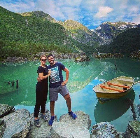 VAKKERT: Folgefonna nasjonalpark er en perle. Det er som å trå inn i et maleri, følte Nuno og kona Cátia her ved Bondhusvatnet.