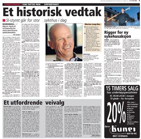 Oppland Arbeiderblad 21. juni 2012.