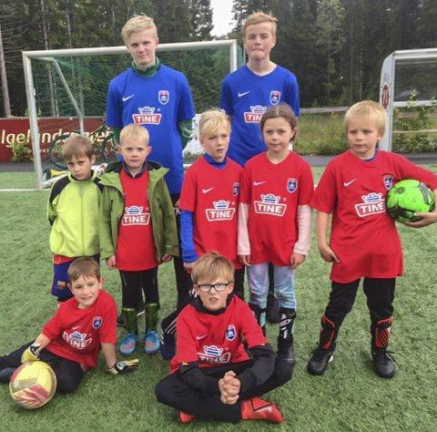 Tobias Hultgren og Gaute Hongbarstad var trenere på dette laget