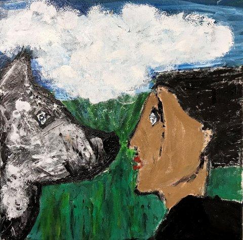 Fra Sundbyfoss: Kommer dagens kunstner Selma Christiane.