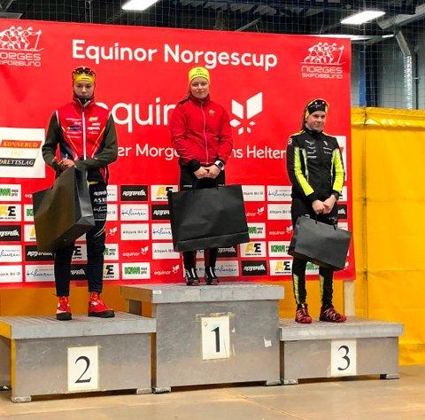 Ida Benjaminsen (t.h) har hatt en kanonsesong og drar fram tredjeplassen fra sprinten på Konnerud som høydepunktet så langt.