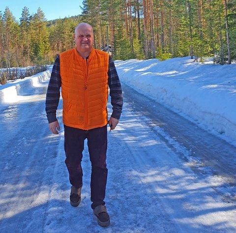HELSEBRINGENDE: – Mosjon og frisk luft gjør noe med hele mennesket, sier Rune Stenslette.
