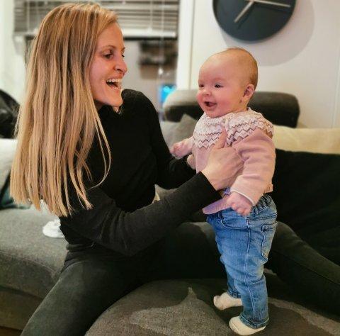 NY HVERDAG: Melissa Wiik-Kovàcs ble mamma til lille Valéria Aléia helt i slutten av oktober 2020.