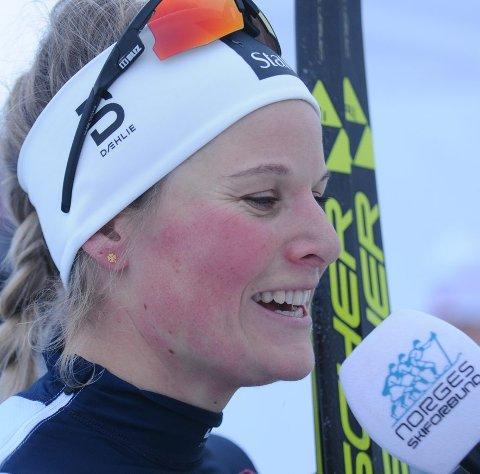 Reiser heim: Mari Eide hoster mye og har ømfindtlige lunger. Derfor avbryter hun nå Tour de ski.