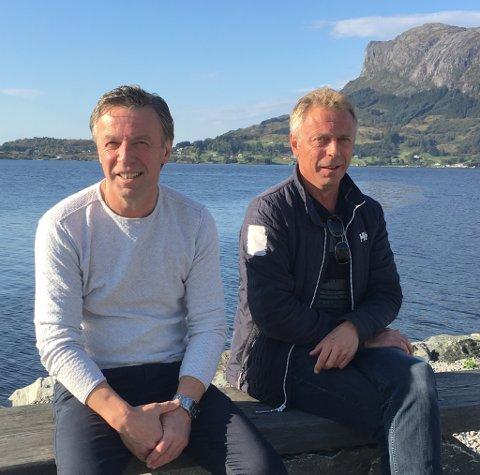 SOLAR SEG I SJØGLANSEN: Fiskebåtreiarane Frode Heggøy og Jan Arve Heggøy har kjøpt fiskebåt for ein halv milliard. For tida er dei begge heime i Askvoll.