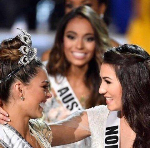 VENNINNEN VANT: Demi-Leigh Nel-Peters stakk av gårde med Miss Universe-tittelen.