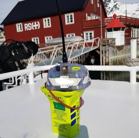 Nødpeilesenderen som ble fisket opp av RS Sundt Flyer onsdag.
