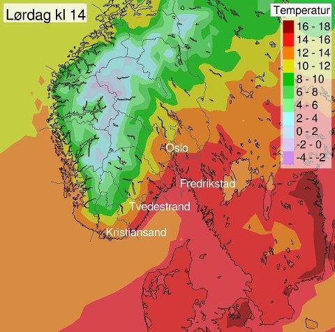 VARMT HØSTVÆR: – Sommeren er ikke helt klar for å gi seg. Kanskje når vi 15 grader eller mer på mandag? skriver Meterologisk institutt.