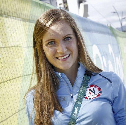 TRIVES: Ingeborg Løvnes har funnet seg godt til rett i OL-byen.