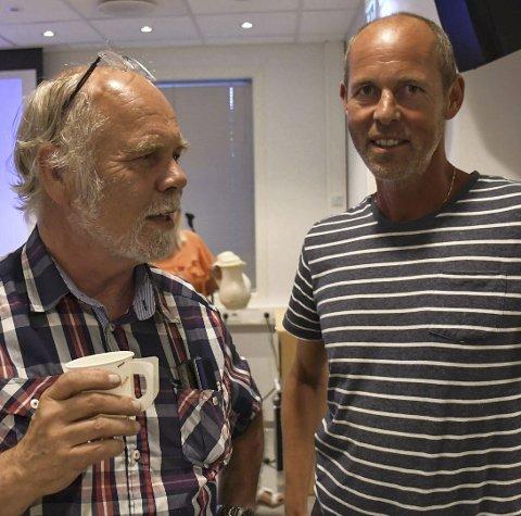 Dialog: Sektorleder Svein Olav Dale og utbygger Vidar Rueness møttes mandag, og skal ha nytt møte mandag. Arkivfoto