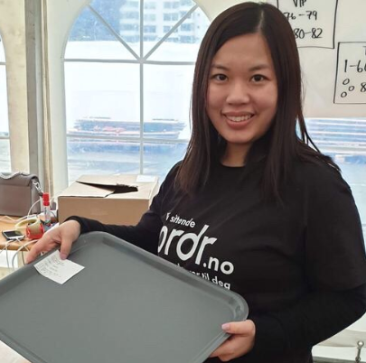 GRÜNDER: Songying Lu fra Drøbak er en av gründerne i det unge teknologiselskapet Ordr.