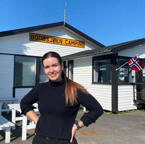 Rebecca Solheim Wiik er driftsleder for Bodøsjøen camping. Hun forteller om økt trykk på campingen.