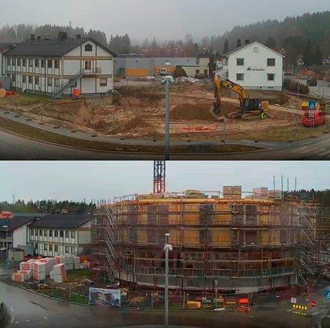TAR FORM: I fjor sommer var det bare ei byggegrop, nå har Samling reist seg.