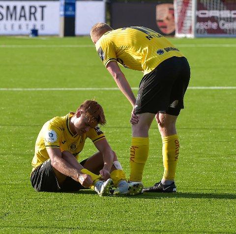 NEDBRUTT: Teodor Berg Haltvik spilte en strålende kamp, men måtte se poengene bli igjen på Ekerbergsletta.