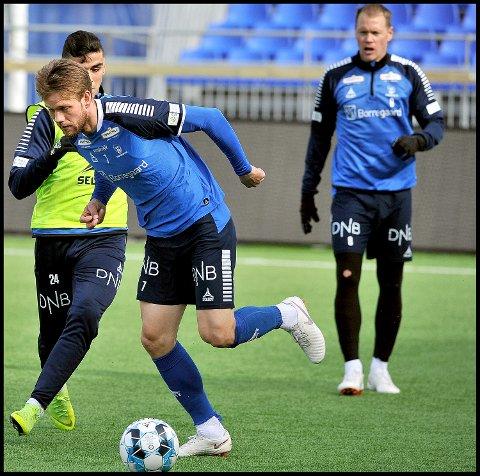 GODE: Ole Jørgen Halvorsen tror det er et gunstig tidspunkt å møte Rosenborg på nå og tror det er gode sjanser til å ta poeng på søndag.
