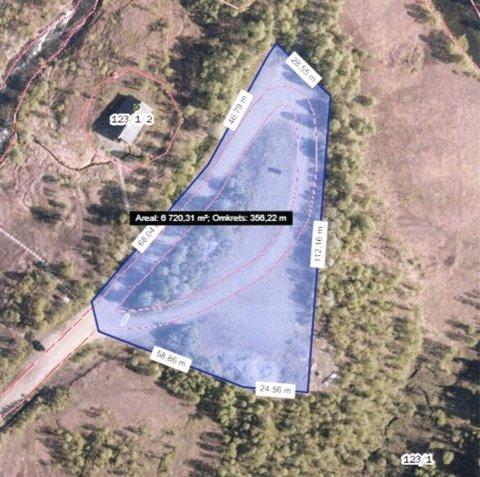 Fauske kommune har inngått en leieavtale med Statskog for denne tomta. Den blir nå avgiftsbelagt. Foto: Fauske kommune/skjermdump