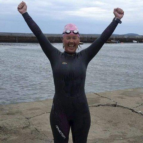 Tatt seg velfortjent ferie: Unni Dahl Ottesen har dratt til Mallorca for å slappe av etter en virkelig kraftanstrengelse hvor hun svømte fra Horten til Moss.