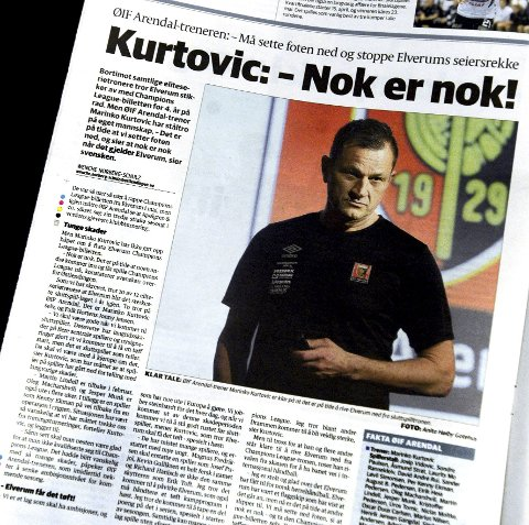 """KLAR TALE: Marinko Kurtovic var klar i sin tale før sesongen: nå er han lei av at Elverum """"alltid"""" vinner sluttspillet. Det har han tenkt å gjøre noe med."""