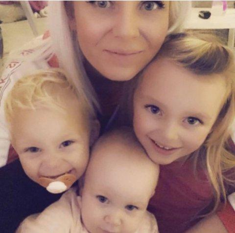 Michelle Angelica Ellefsen og barna hennes ønsker å finne seg et sted å bo i Svelvik