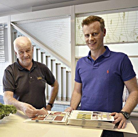 Øyvind Kjell Nekstad (til venstre) troner øverst på både inntekts- og formuelistene for 2019 i Tingvoll kommune. Her med sønnen Vegard Nekstad.