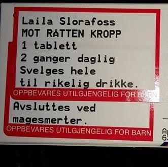 PILLER MOT RÅTTEN KROPP: Laila Slorafoss fra Bjørkelangen fikk utskrevet en spesiell type tabletter forleden.