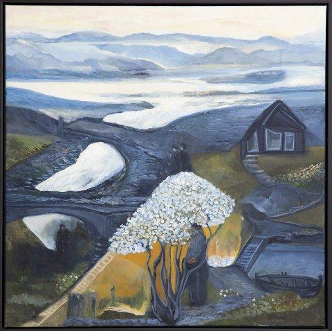 VEIEN: Dette bildet med tittel «Veien» er eit av bilda som du kan sjå på Ellen Marie Hisdal si utstilling i Galleri Songfuglen i Isdalstø.FOTO: Privat
