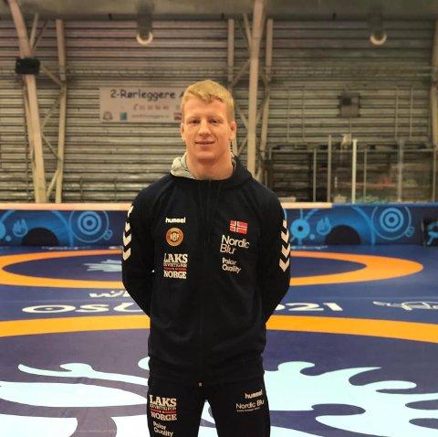Ruben Elias Been (21) debuterte lørdag i bryte-VM i 87-kilos klassen.