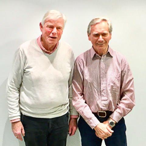 PÅ TOPP: Gunnar B. Vegsgaard (til venstre) er nummer to og Ola Øygard topper valglisten til Pensjonistpartiet i Nordre Follo.