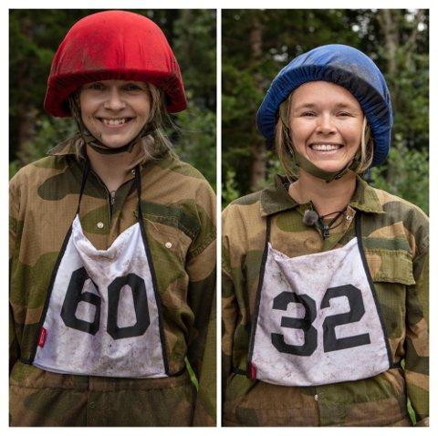 TESTET GRENSER: De to damene fra Follo har virkelig fått testet egne grenser under oppholdet på Kompani Lauritzen.