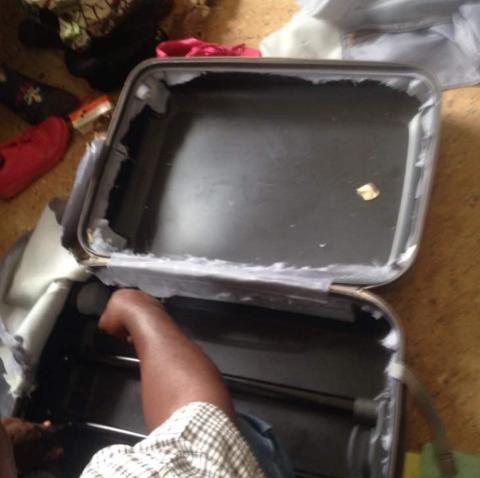FUNNET HER: Narkotikaen ble funnet i en koffert